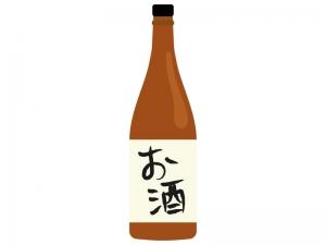 日本酒・一升瓶イラスト02