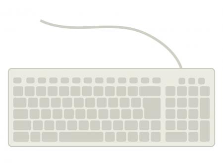 パソコンのキーボードのイラスト