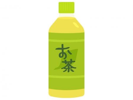 ペットボトルのお茶のイラスト