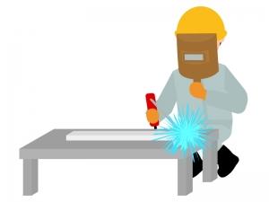 溶接する作業員のイラスト
