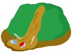 土砂災害のイラスト