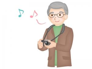 老後の趣味・カメラのイラスト