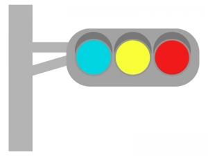信号機のイラスト