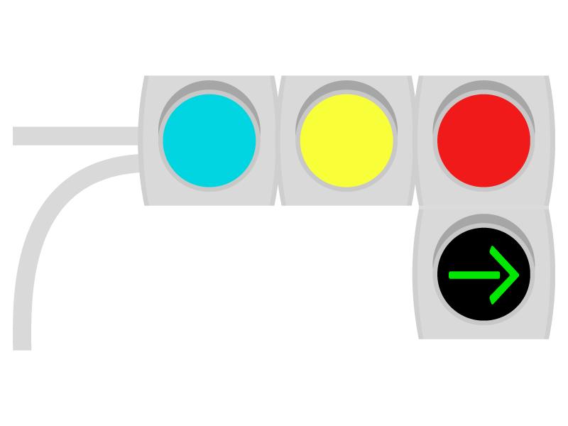 矢印信号機のイラスト