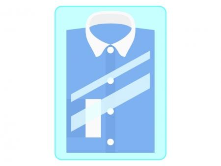 Yシャツのクリーニングのイラスト
