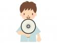 拡声器を使う人のイラスト