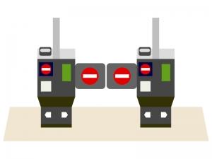 駅の自動改札機のイラスト02