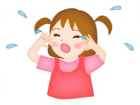 泣く子どものイラスト
