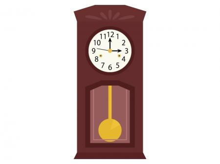 大きな振り子時計のイラスト