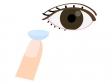 目とコンタクトレンズのイラスト02