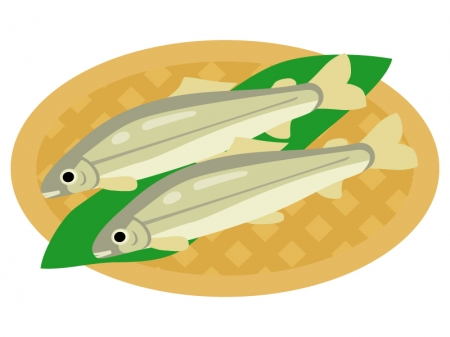 鮎のイラスト02