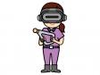 VRゲームで遊ぶ人のイラスト