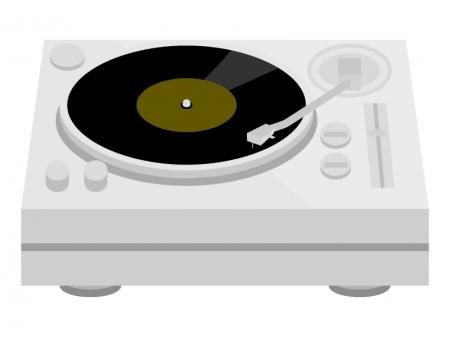 レコードプレイヤーのイラスト02