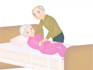 老老介護のイラスト