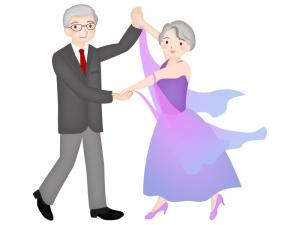 老後の趣味・ダンスのイラスト