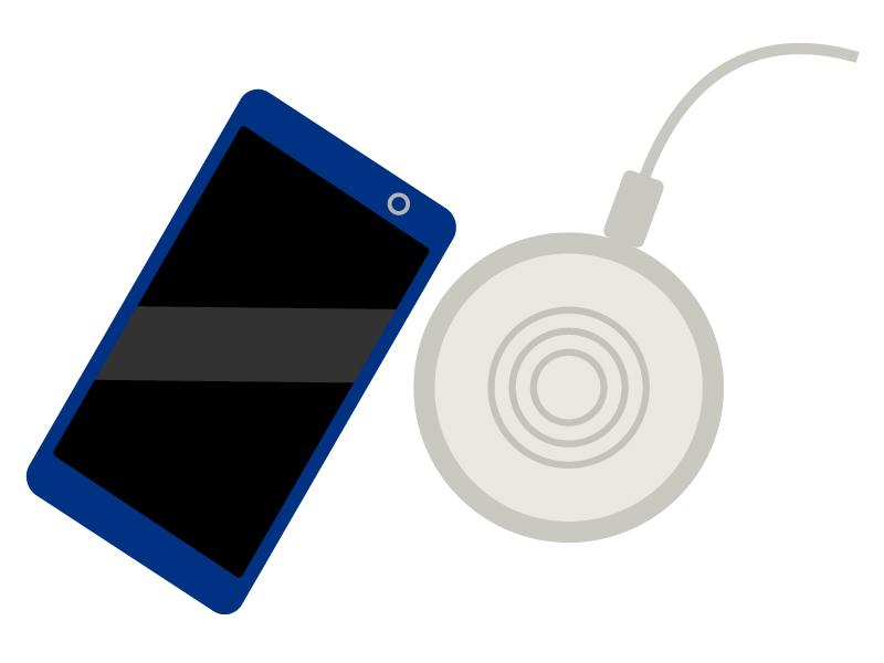 スマホの無線充電のイラスト02