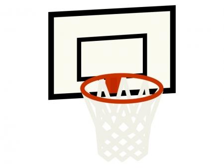 バスケットボールのゴールのイラスト
