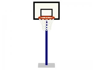 バスケットボールのゴールのイラスト02