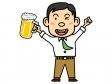 生ビールとサラリーマンのイラスト