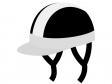 半帽のヘルメットのイラスト