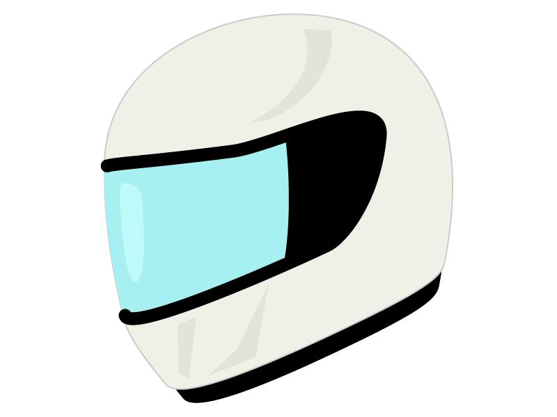 フルフェイスのヘルメットのイラスト