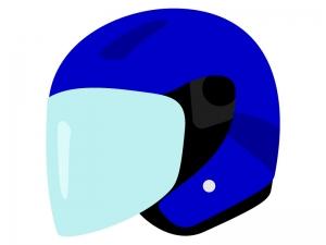 ジェットタイプのヘルメットのイラスト