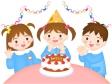 幼稚園で誕生祝い(女の子)のイラスト