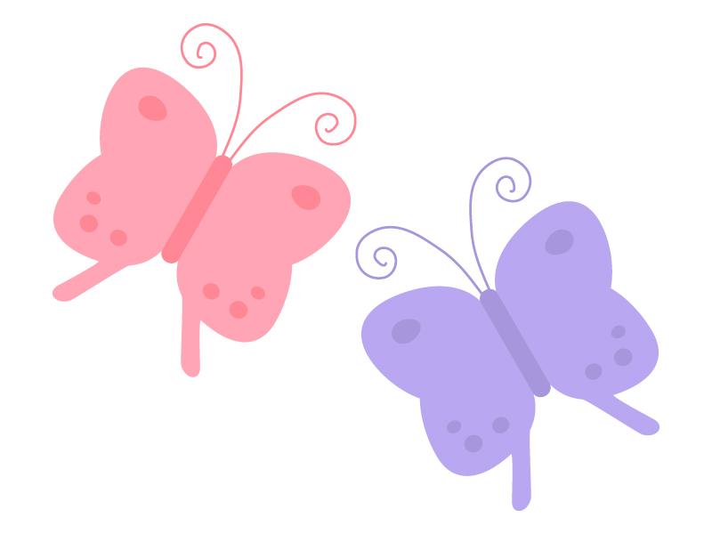 かわいい蝶々のイラスト03
