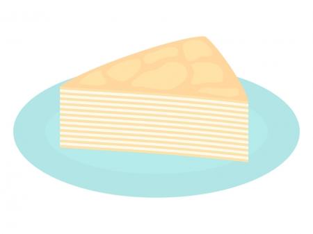 ミルクレープのイラスト