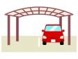 車とカーポートのイラスト