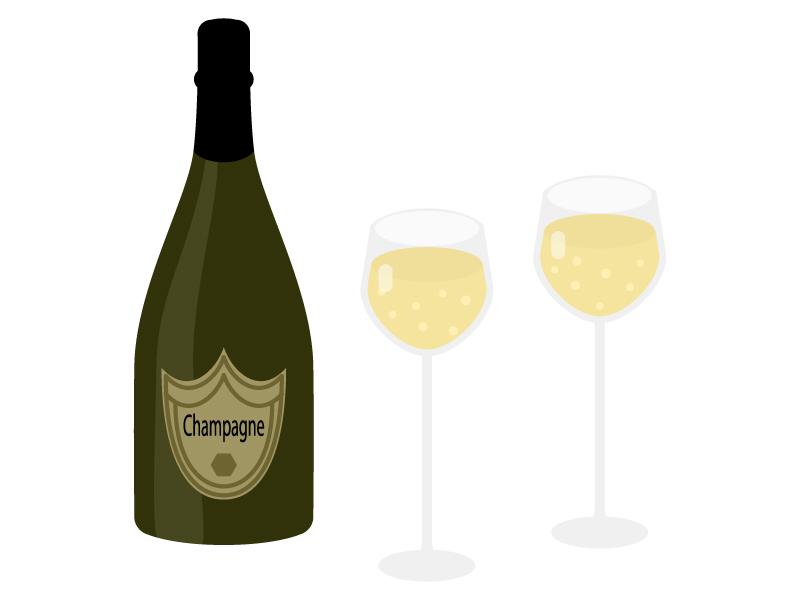シャンパンのイラスト02