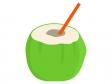ココナッツジュースのイラスト
