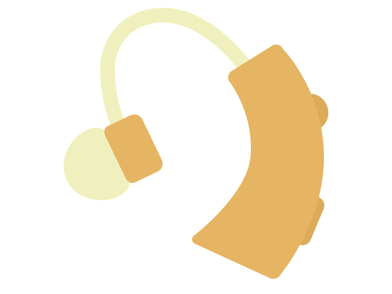 補聴器のイラスト
