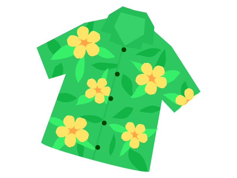 アロハシャツのイラスト
