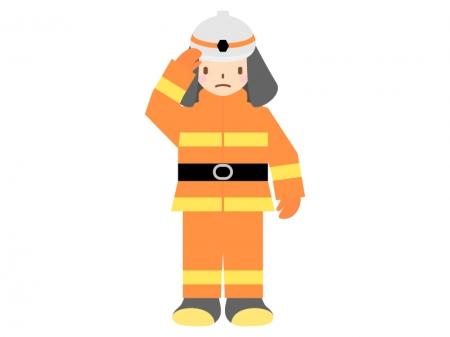 消防士のイラスト02