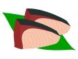 鰤(ぶり)の切り身のイラスト