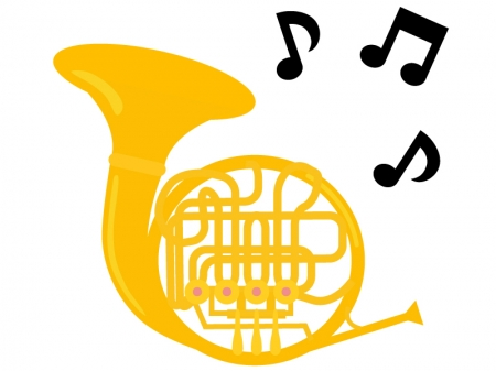 楽器・ホルンのイラスト