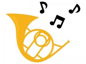 楽器ホルンのイラスト02 イラスト無料かわいいテンプレート