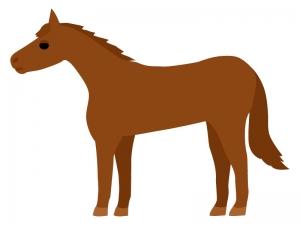 馬・サラブレッドのイラスト