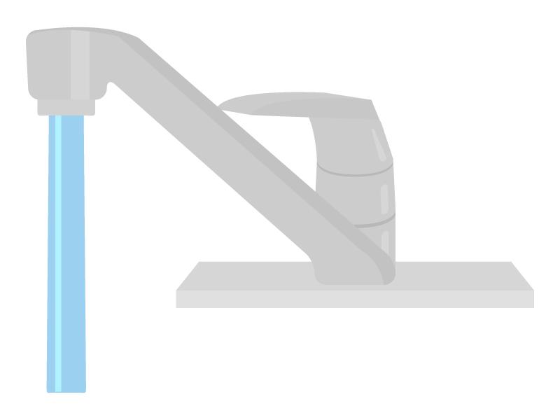 レバーハンドルの水道のイラスト