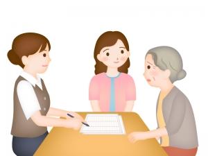 介護認定の審査のイラスト