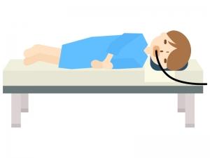 胃カメラ検査のイラスト