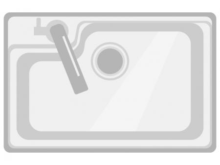 上から見たキッチンシンクのイラスト02
