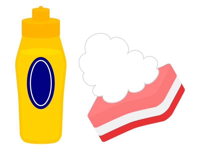 中性洗剤とスポンジのイラスト02