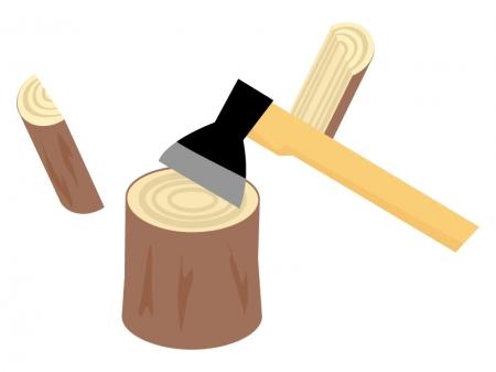 薪割りイラスト