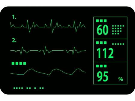 医療・心電図のイラスト
