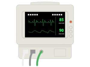 医療・心電図のイラスト02