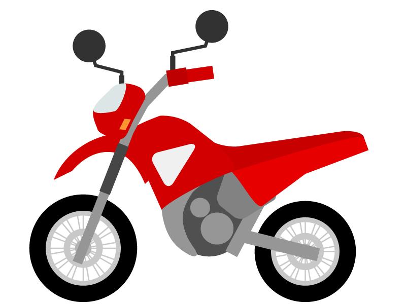 オフロードバイクのイラスト02