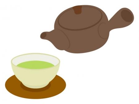 お茶と急須のイラスト02