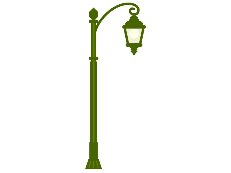 アンティークな街灯のイラスト